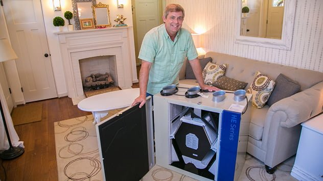 Allen Lyle with an HE series ventilation system from Broan.
