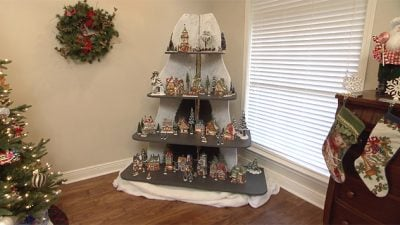 holiday display shelves