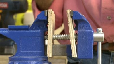 vise on workbench