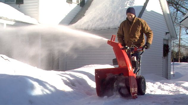 snow blowing