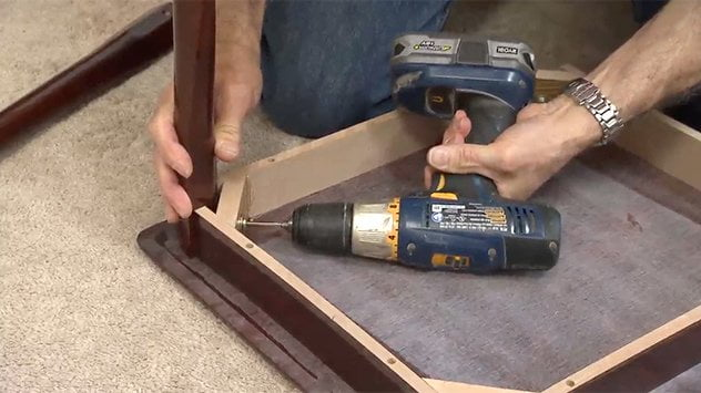using drill to tighten fasteners