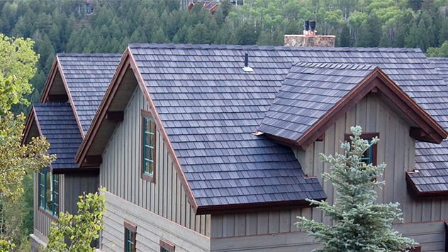Davinci roofscapes cedar shake roof real versus synthetic for Davinci shake shingles