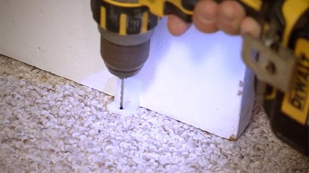 drilling through carpet