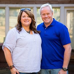 Homeowner Shannon Wade with Danny Lipford