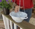 How to Make a Hanging Colander Planter
