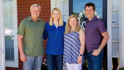 Danny Lipford and Chelsea Lipford Wolf with homeowners Stephanie and Jeff Jones.