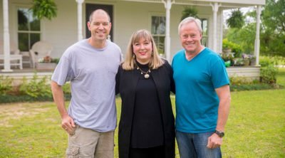 Homeowners Jonathan and Page Ellis with Danny Lipford.