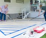 How to Create a Painted Rug on Concrete