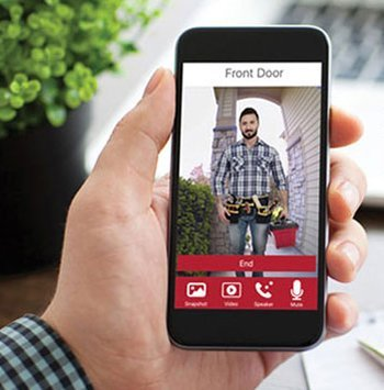 The Knock app allows you to see who is at your front door.