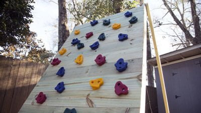 build it a cargo net climbing wall for the kids today s homeowner
