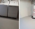 'Dungeon' Laundry Room Gets Smooth New Floor