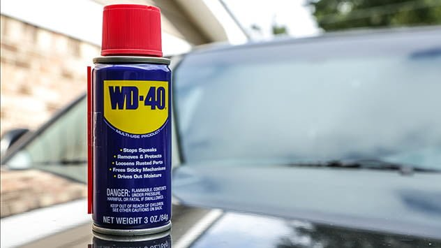 WD-40 has more uses than stopping squeaks and cutting through rust.